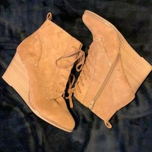 A NEW DAY Wedge Booties